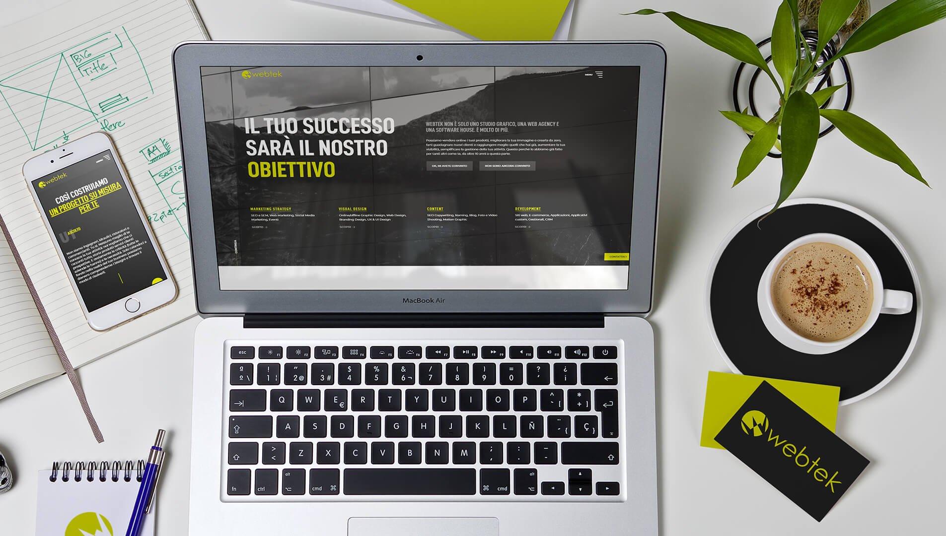 Progettazione siti web su misura - Webtek